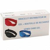 Bracelet distributeur de gel + bouteille de recharge