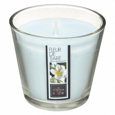 Bougie parfumée fleur de tiaré Nina dans verre 190 g