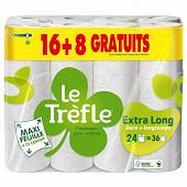 Le trefle papier toilette maxi feuille compact 16+8