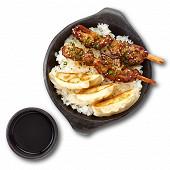 Box brochettes poulet yakitori et gyoza