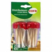 Cora distributeur 100 cure dents X2
