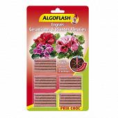 Algoflash engrais geraniums et plantes fleuries 25 batonnets