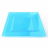 Assiettes X4 bleu carrée 20cm