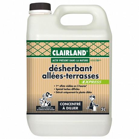 Clairland biocontrole désherbant terrasses & allees concentre 5l