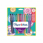 Papermate 12 feutres flair candy pointe moyenne Assortis