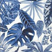 Serviettes x20 exotic leaves 33x33cm 3 plis