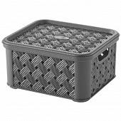 Box arianna gris anthracite avec courvercle 1.4l