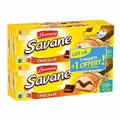 Brossard lot de 3 savane pocket x7 chocolat + 1 offert 840g