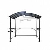 Carport barbecue autoportant double toit