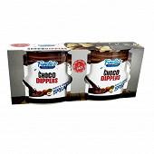 Pots de crème aux noisettes et cacao avec gressins 110 g (2x55 g)