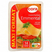 Cora tranchettes emmental 14 tranches 350g