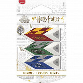 Gomme pyramide Harry Potter blister x3