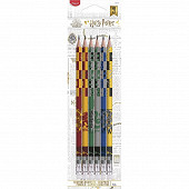 Crayon graphite embout gomme hb Harry Potter x6 blister