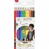 Crayons couleur Harry Potter x12 boîte carton