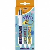3 stylos 4 couleurs medium - licence vivo