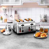 Kitchencook Grille-pain inox xl - FAMILY TOAST XL INOX