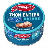 Saupiquet thon entier nature msc 93g