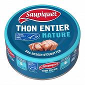 Saupiquet thon entier nature msc 186g