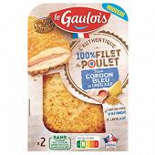 Le Gaulois l'authentique cordon bleu de poulet au cantal AOP 2x100g