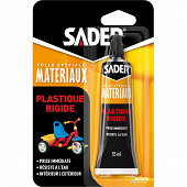 Sader colle plastique rigide tube sous blister 55ml
