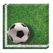 Serviettes x20 football party 33x33cm
