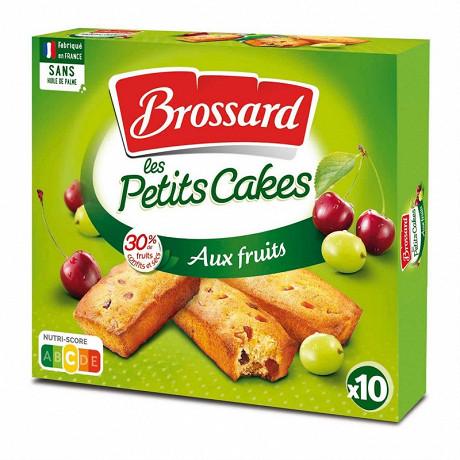 Brossard mini cakes aux fruis, 10 cakes 300g