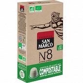 San marco n°8 10 capsules bio compostable 51g