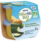 Nestlé naturnes bio courgette pomme de terre dès 4/6 mois 2x130g
