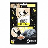 Sheba creamy snacks friandises au poulet pour chat 12g