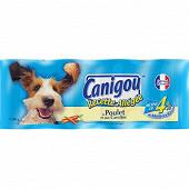 Canigou chien en pâtée et morceaux allégée aux viandes blanches et aux légumes 4x400g