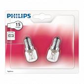 Philips 2 ampoules incandescentes pour four tube E14-15W