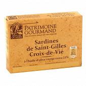 Patrimoine gourmand sardines de Saint-Gilles-Croix-de-Vie à l'huile d'olive 115g