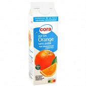 Cora pur jus d'orange sans pulpe 1 litre