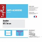 "Oreiller 60X60 ""moelleux anti-acariens"""