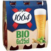 Kronenbourg 1664 bio 6x25cl 5.5%vol