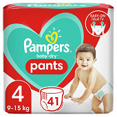 Pampers baby dry pants couches-culottes geant taille 4 41ct