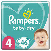 Pampers baby dry langes geant 46ct