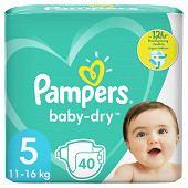 Pampers baby dry langes geant 40ct