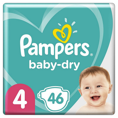 Pampers Pampers baby dry langes geant 46ct
