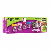 Whiskas sachets fraîcheur pour chat en gelée les recettes du marché 48x100g