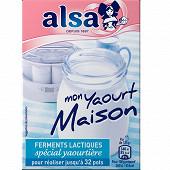 Alsa préparation pour mon yaourt maison 4 sachets 8g