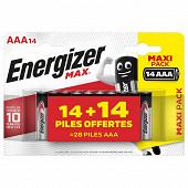 Max 14+14 piles gratuites AAA/LR03
