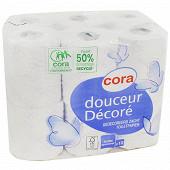 Cora papier toilette 2 plis décoré x12