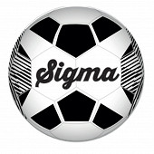 Ballon football duarig sigma jaune T5