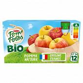 Pom'potes bio pomme nature 12x90g
