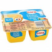 Cora crème dessert saveur vanille 4x125g