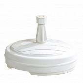 Pied de parasol plastique rond 13l blanc réf 10703 BL