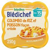 Blédina blédichef colombo de riz et poisson façon créole dès 15mois 250g
