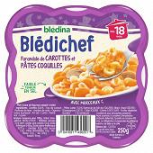 Bledina bledichef farandole de carottes et pâtes coquilles dès 18mois 250g