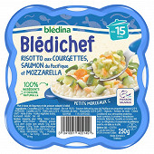 Blédina blédichef risotto aux courgettes saumon et mozarella dès 15mois 250g